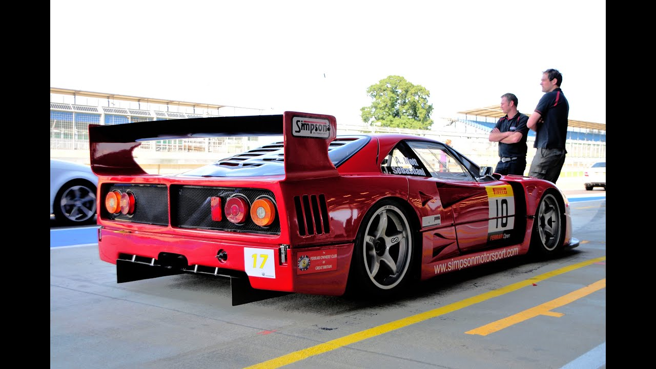 Ferrari F40 Lm Startup Track Flybys Flames Youtube