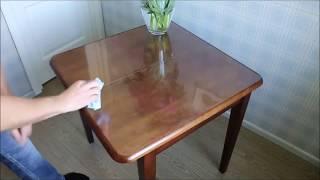 Обзор и применение скатерти прозрачной домашней термостойкой на стол  Прзрачная пленка ПВХ