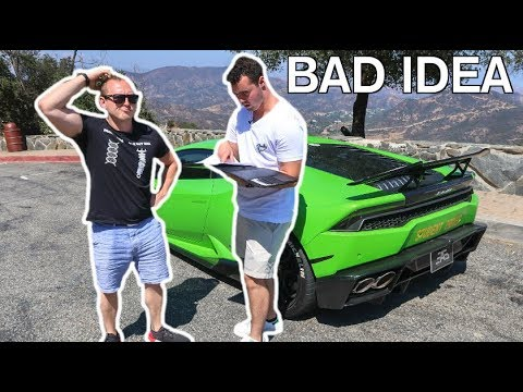 Car Throttle Takes Driving Test In A Lamborghini