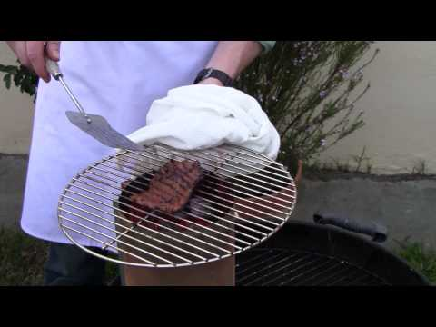 What temp do you grill flank steak