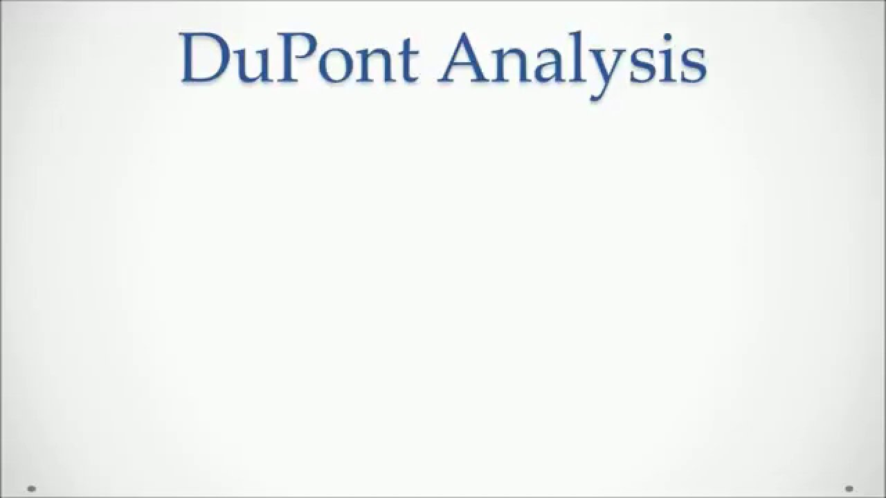 DuPont Analysis With Excel