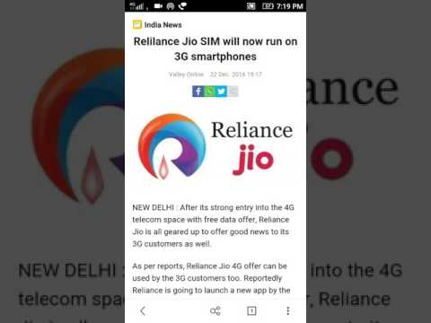 Reliance Jio 4G offer can be used by the 3G customers too