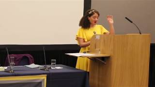 A Woman's Place is at the lectern (Oxford, 25th October 2019) Raquel Rosario Sanchez
