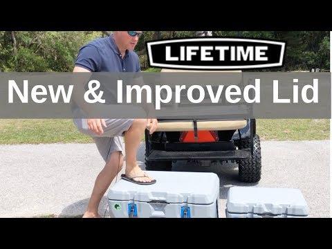 Lifetime Cooler Review 28 Qt, 55Qt and 77Qt Ice Retention & Durability