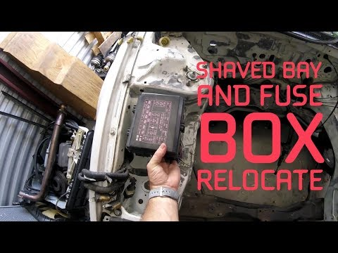 3rd gen honda prelude - shaved bay and fuse box relocate