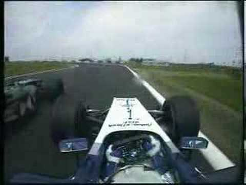Montoya overtaking Mark Webber (it's Klien)
