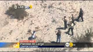 Canyon Country Police Chase - Parolee at Large (Guns Drawn) NEW August 2013