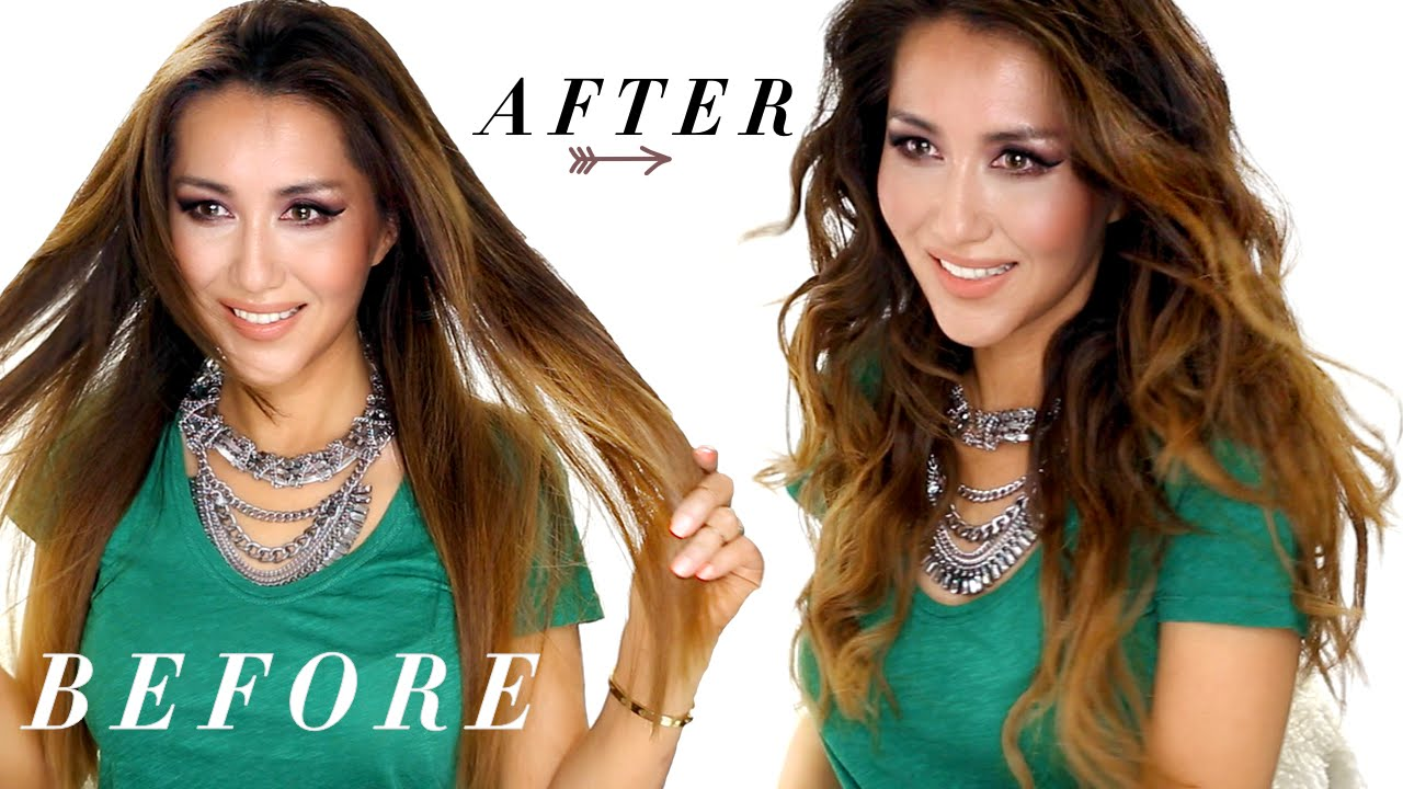 ☆ EASY Loose WAVES   Flat Iron Curls   HAIRSTYLES ft Lionesse - YouTube