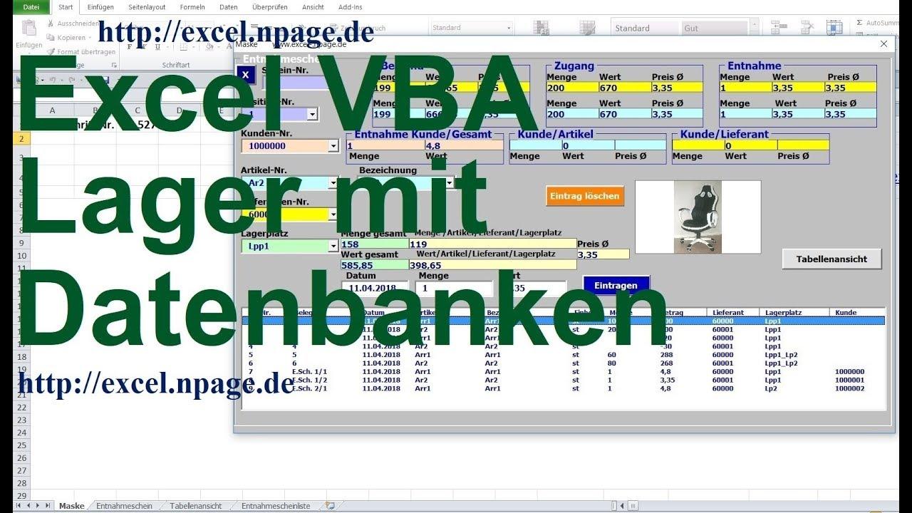 Datenbank Programm In Excel Vba Selber Erstellen 2