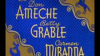 Down Argentine Way (1940) - Betty Grable & Don Ameche - Main Credits, Finale & Ending Credits