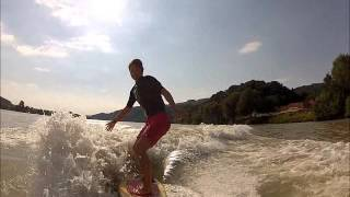 Wakesurfen with Actioncats Marbach 2013