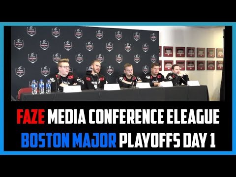 Press Conference - FaZe ELEAGUE Boston Major 2018 Playoffs Day 1