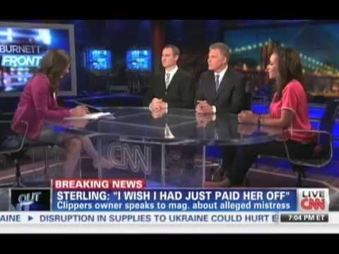 Donald Sterling's Mistress  CNN Erin Burnett OutFront with Steve Adubato - 5/2/14