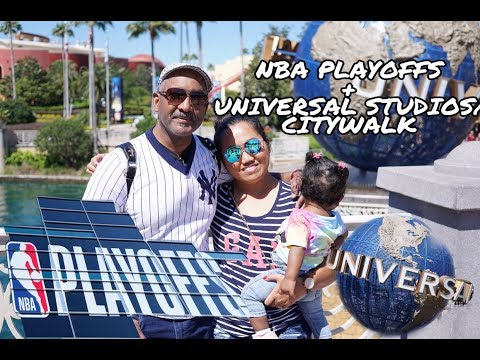 FIRST TIME IN NBA PLAYOFFS + VISITING UNIVERSAL STUDIOS FLORIDA/CITYWALK |Simplygen