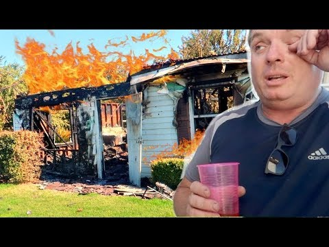 My dad's house burned down.