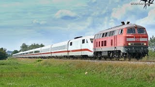 Eisenbahn Verkehr in die Schweiz wird über die Nebenbahn geschleppt wegen Sperrung Rheintalbahn