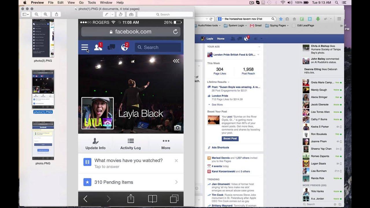 Desktop Version Facebook