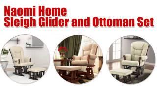 Naomi Home Sleigh Glider And Ottoman Set Overview