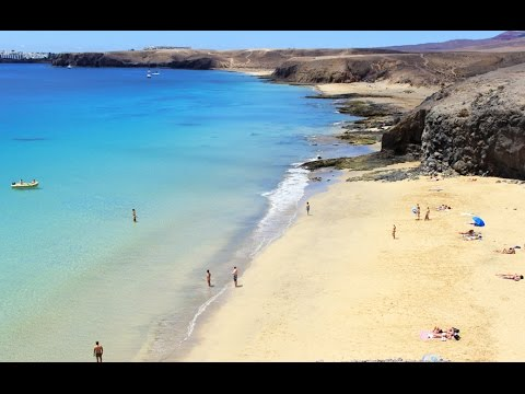 papagayo beach lanzarote stunning colours youtube. Black Bedroom Furniture Sets. Home Design Ideas