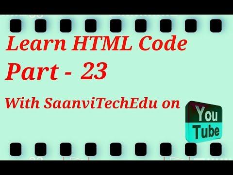 Html tutorial part – 23                                    #saanvitechedu thumbnail