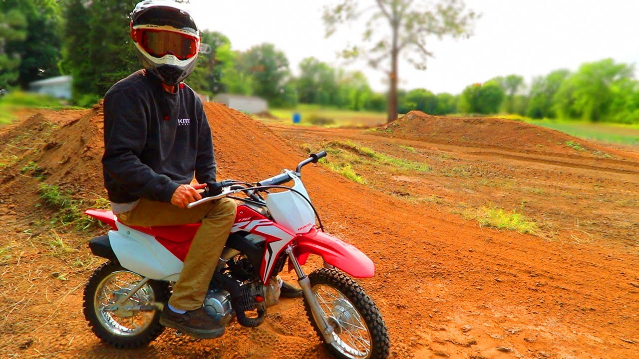First Ride on NEW 2021 CRF110F at BackYard Pit Bike Track
