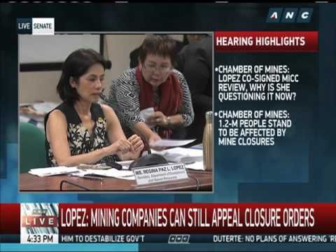 Gina Lopez lays down vision for DENR in CA grilling ON STUDENTS OF MINING ENGINEERING