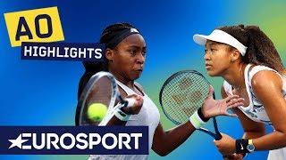 Coco Gauff vs Naomi Osaka Highlights | Australian Open 2020 Round 3 | Eurosport