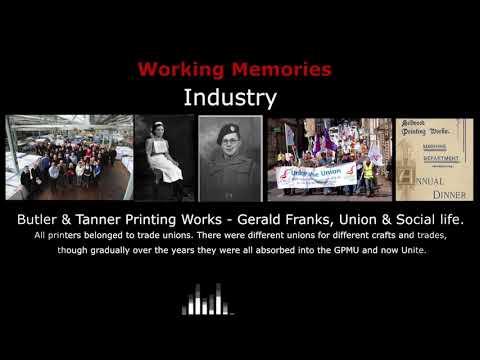 Gerald Franks Butler & Tanner Printing Works - Union & Social Life