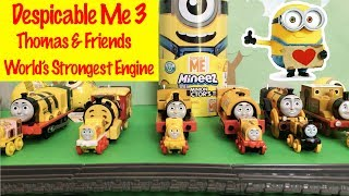 ⭐ Despicable Me 3 - Thomas & Friends World's Strongest Engine Competition Kids Toys