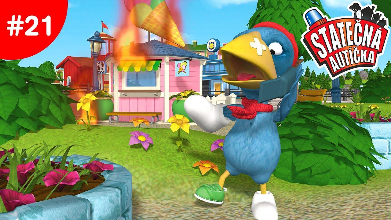 Statečná autíčka – Zmrzlinový stánek hoří  | Kreslené pro Děti | Animované pro Děti