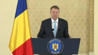 Klaus Iohannis face o declarație presă - 2 februarie 2017