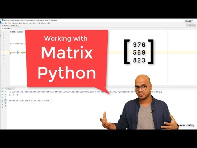 #31 Python Tutorial for Beginners | Working with Matrix in Python