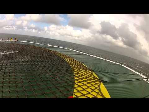 Helicoper Loodswezen Hoist naar Dive support vessel