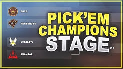 CS:GO - My Pick'Em Predictions (Champions Stage)
