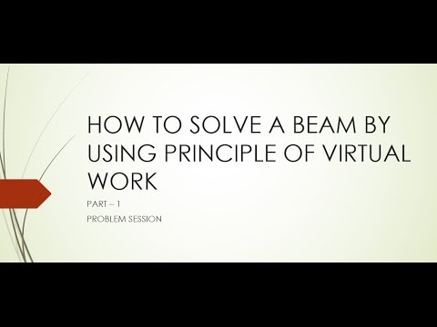 PRINCIPLE OF VIRTUAL WORK ON BEAMS PART-1/STRUCTURAL ANALYSIS/ENGINEERING MECHANICS