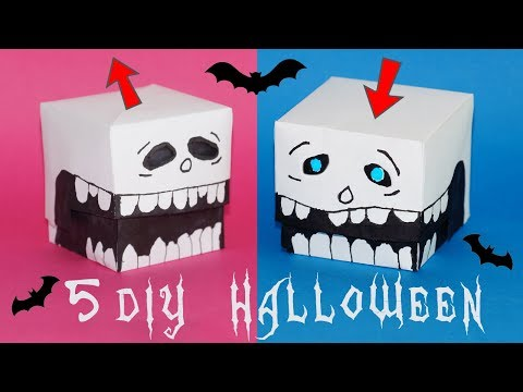 5 EASY AND COOL DIY HALLOWEEN | Easy DIY Paper crafts ideas