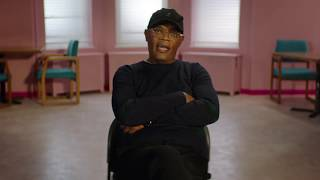 "GLASS ""Elijah Price"" Behind The Scenes Samuel L Jackson Interview"