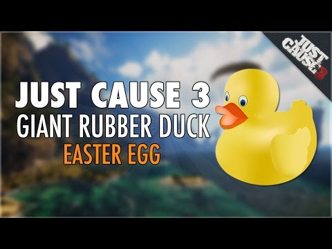 "Just Cause 3: ""Giant Rubber Duck Easter Egg"" Duck Jetski Location (Just Cause 3 Easter Eggs)"