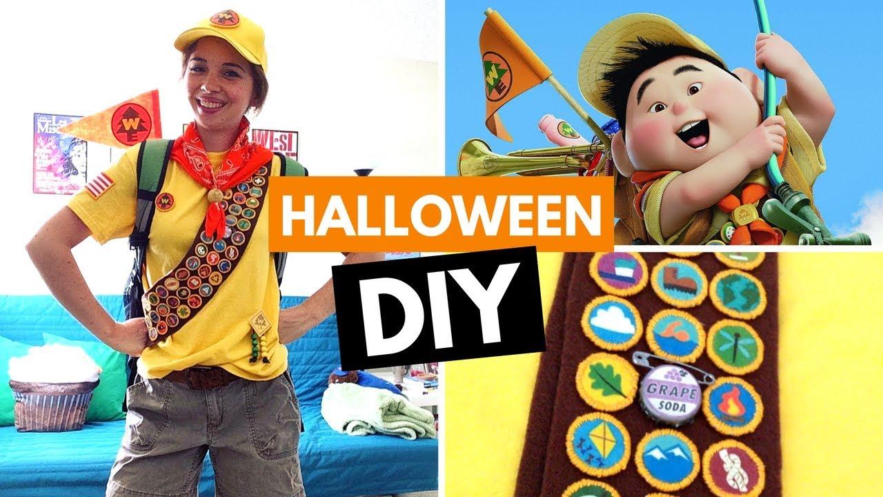 diy russell wilderness explorer halloween costume youtube