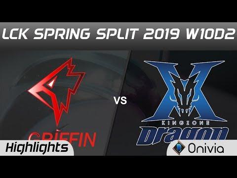 GRF Vs KZ Highlights Game 2 LCK Spring 2019 W10D2 Griffin Vs KingZone DragonX LCK Highlights By Oniv