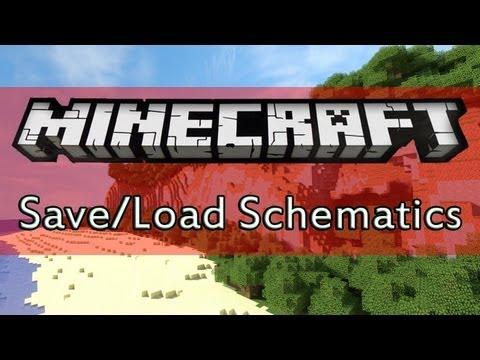 Minecraft: Worldedit Tutorial │ Save and Load Schematics