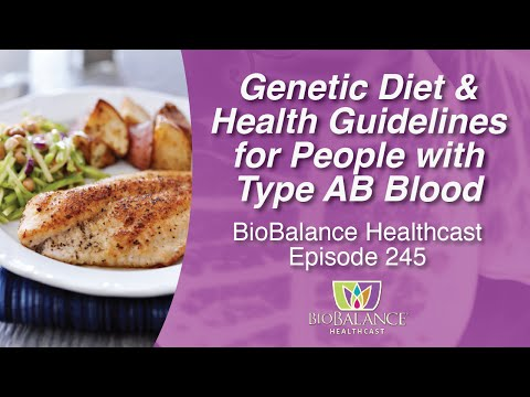 Genetic Diet and Health Guidelines for People with Type AB Blood