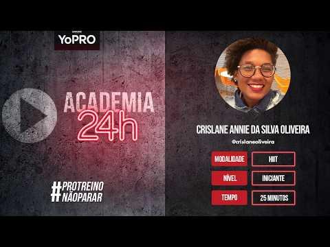 Ginástica Em Casa - Hiit/Funcional Com Crislane Annie Da Silva Oliveira - Iniciante | Academia24h