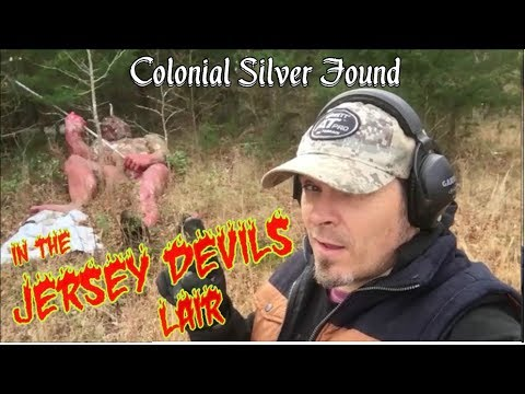 Jersey Devil Encounter & 1700's Silver found! - Metal Detecting a Colonial Farm