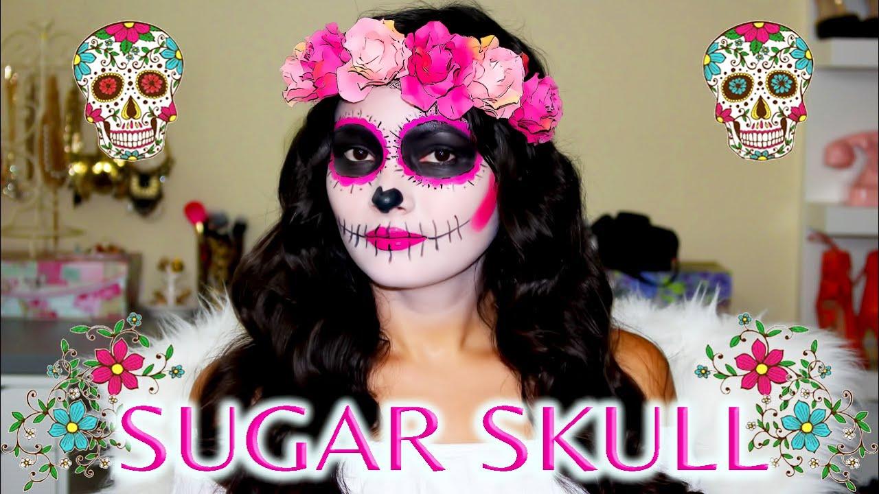 Sugar Skull Rosada Tutorial 💀 Maquillaje De Catrina Super
