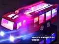 default - WolVol Electric Fire Truck Toy With Stunning 3D Lights and Sirens, goes around and changes directions on contact - Great Gift Toys for Kids