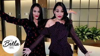 THE FLOSS Fortnite dance FAIL or NAIL?! Nikki and Brie wrap a SECRET video shoot with a dance break