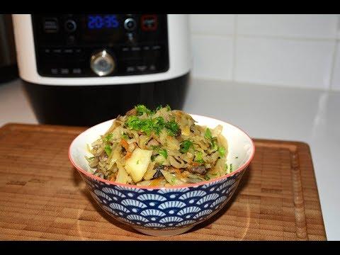 Постное блюдо Солянка Грибная с Капустой в Мультиварке Скороварке Redmond RMC  P 350
