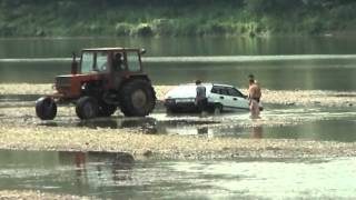 Getting Car from river. Ukraine style.