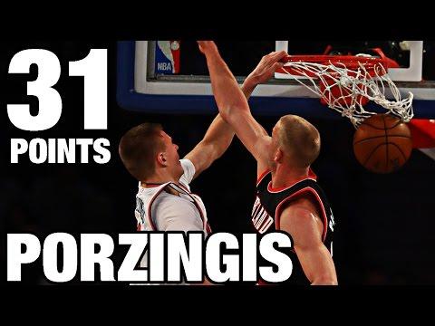 Kristaps Porzingis 31 Points, 9 Rebounds vs Trail Blazers | 11.22.16